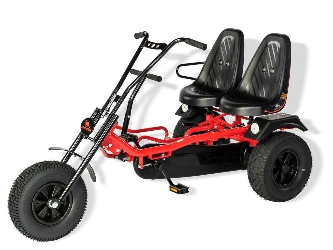 Gokart / Pedal-Gokart 2 Rider BF1 schwarz/rot DINO CARS Bild 1