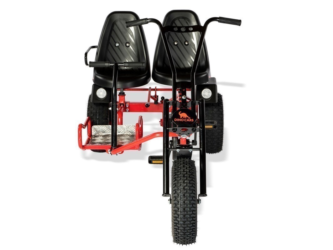 Gokart / Pedal-Gokart 2 Rider BF1 schwarz/rot DINO CARS Bild 2