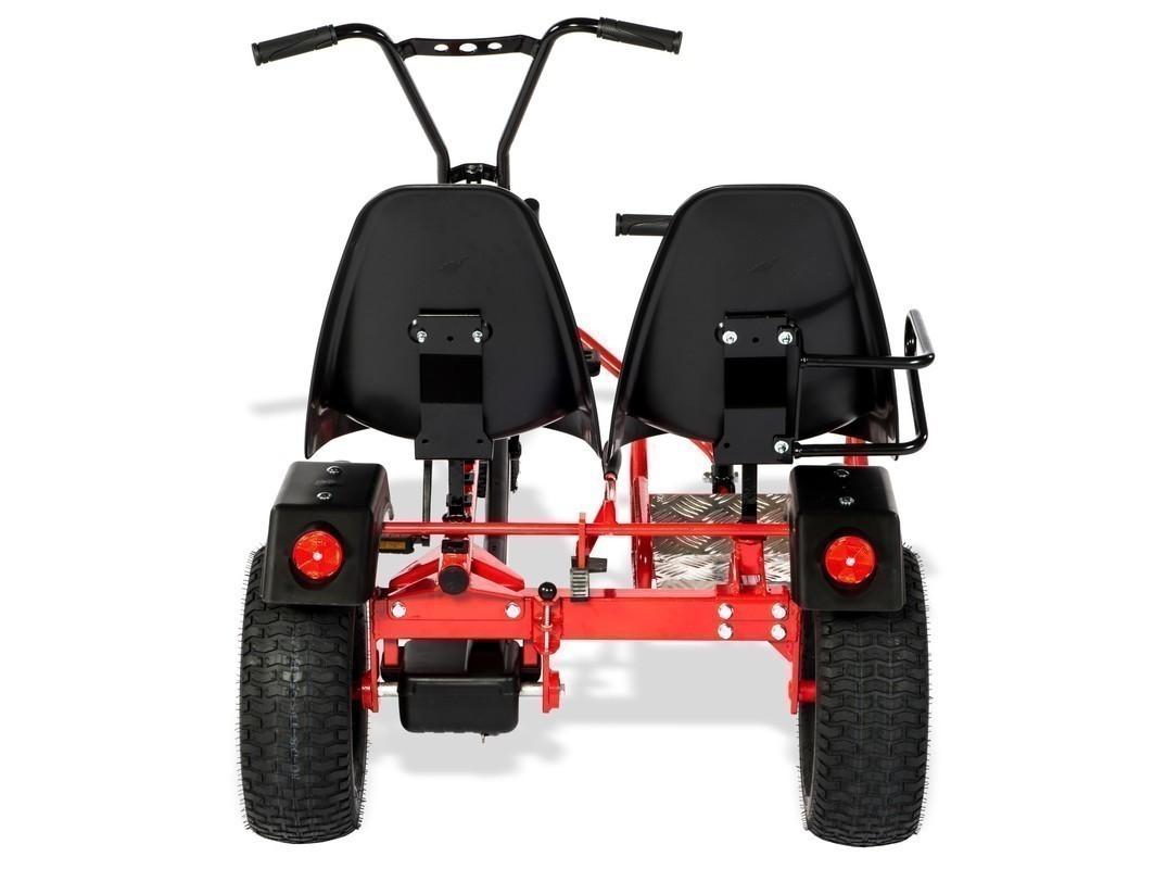 Gokart / Pedal-Gokart 2 Rider BF1 schwarz/rot DINO CARS Bild 3