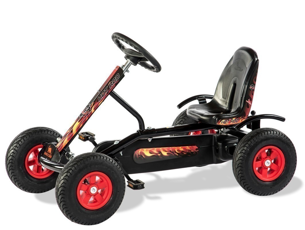 Gokart / Pedal-Gokart Kids Junior Hot Rod BF1 schwarz DINO CARS Bild 1