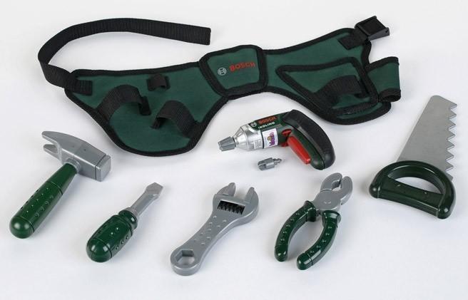 BOSCH Werkzeuggürtel mit Akkuschrauber Ixolino für Kinder Bild 1