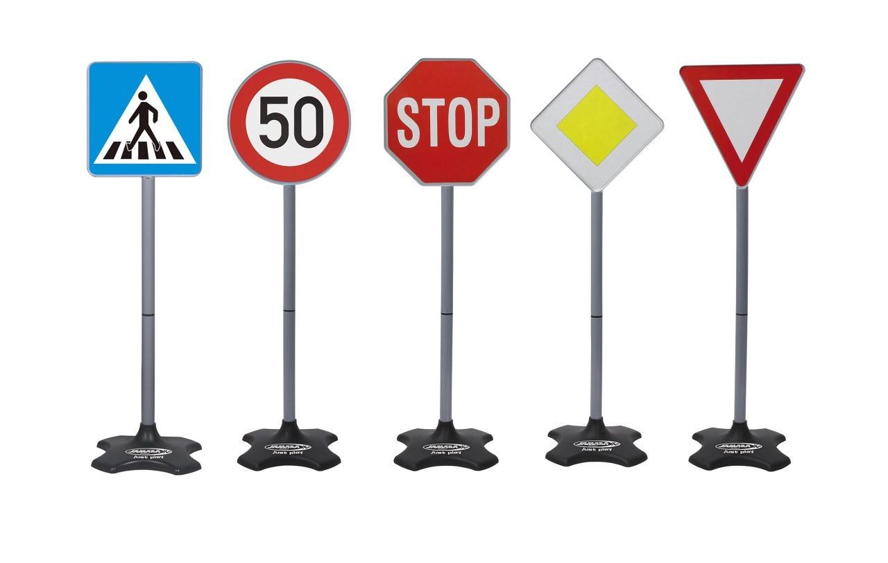 Jamara Verkehrszeichen für Kinder / Traffic-Set-Grand A 5-teilig Bild 1
