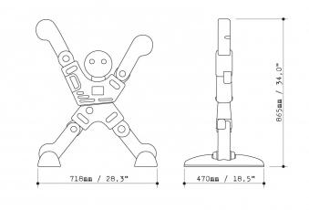 Verkehrsschild Bremsmännchen EXIT X-Man Safety Keeper Bild 4