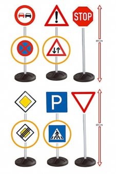 BIG Verkehrsschilder Set Signs Mega Bild 1