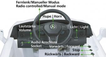 Jamara Elektro Kinderauto Ride-on Mercedes Benz SLK weiß Bild 4