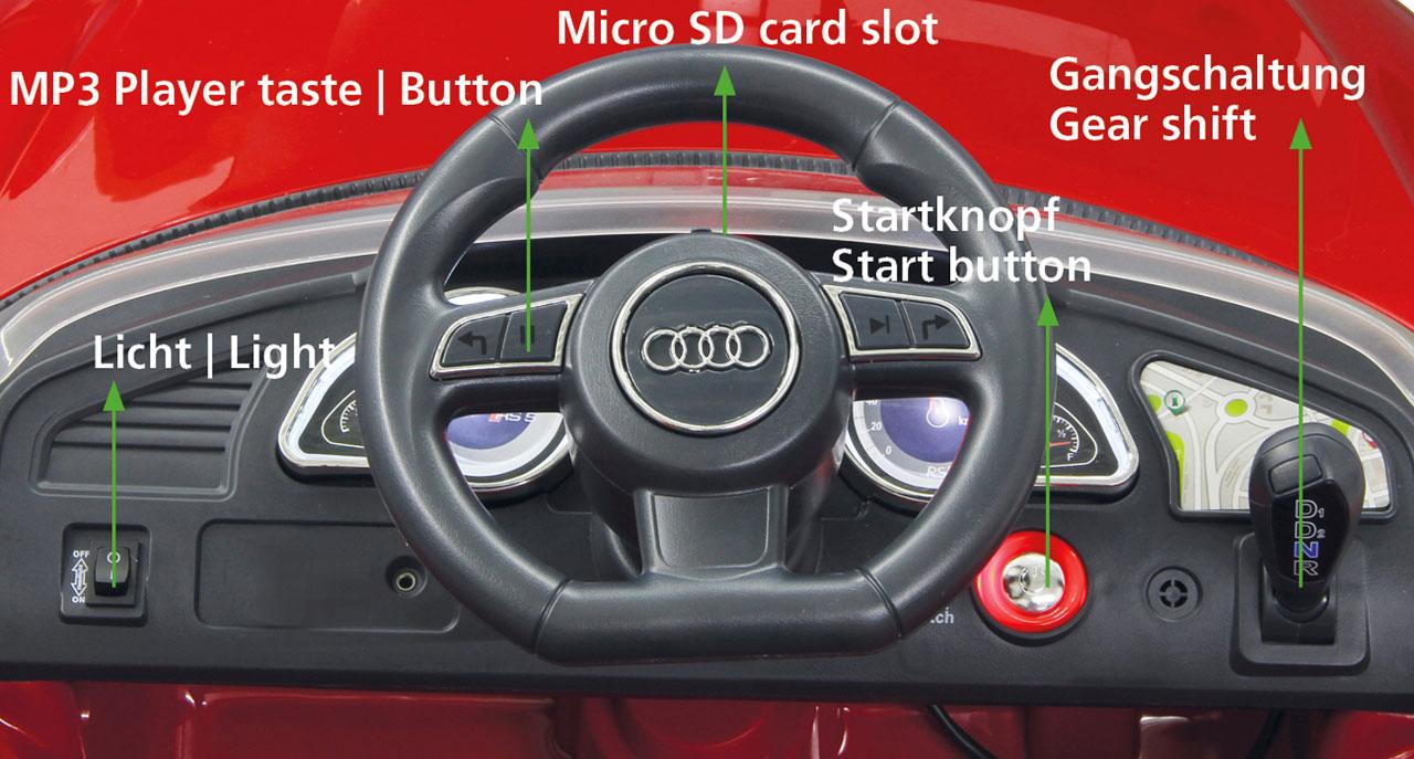 Jamara Elektro Kinderfahrzeug Kinderauto Ride-on Audi RS5 rot Bild 4