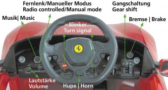 Jamara Elektroauto Kinder Ride-on Ferrari F12 Berlinetta rot Bild 4