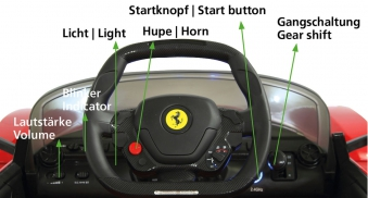 Jamara Elektroauto Kinder Ride-on Ferrari LaFerrari Bild 4