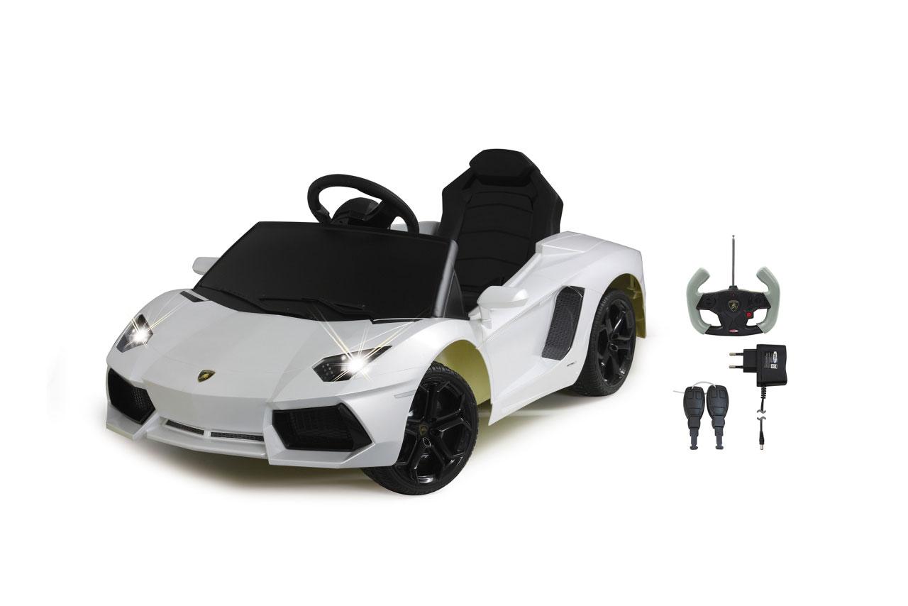 Jamara Elektroauto Kinder Ride-on Lamborghini Aventador weiß Bild 1