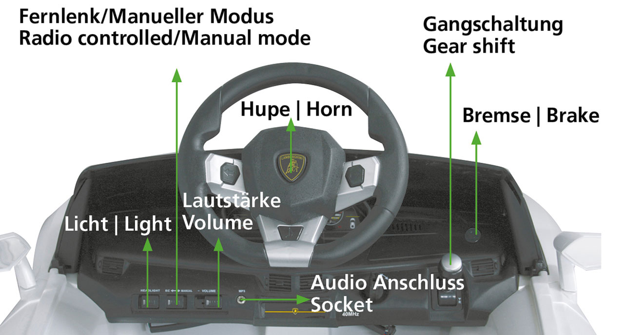 Jamara Elektroauto Kinder Ride-on Lamborghini Aventador weiß Bild 4