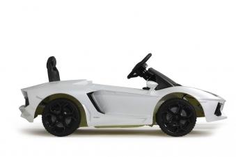Jamara Elektroauto Kinder Ride-on Lamborghini Aventador weiß Bild 3