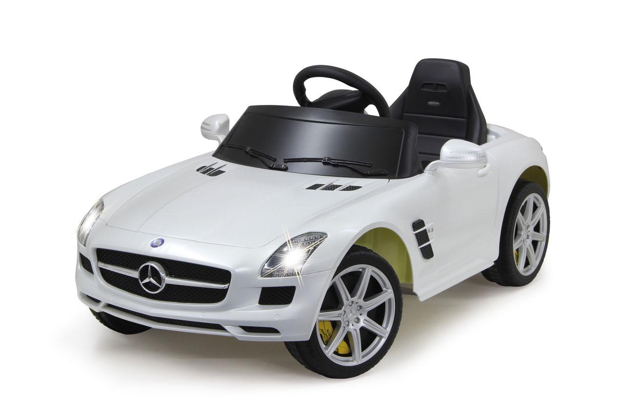 Jamara Elektroauto Kinder Ride-on Mercedes Benz SLS AMG weiß Bild 1