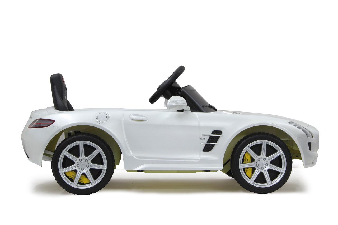 Jamara Elektroauto Kinder Ride-on Mercedes Benz SLS AMG weiß Bild 3