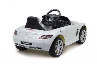 Jamara Elektroauto Kinder Ride-on Mercedes Benz SLS AMG weiß Bild 2
