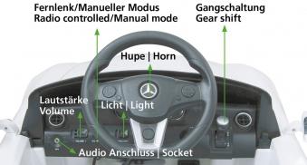 Jamara Elektroauto Kinder Ride-on Mercedes Benz SLS AMG weiß Bild 4