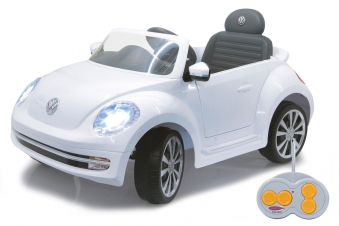 Jamara Elektroauto Kinder Ride-on VW Beetle weiß Bild 1