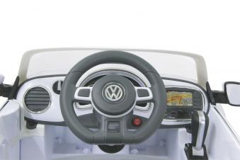 Jamara Elektroauto Kinder Ride-on VW Beetle weiß Bild 3