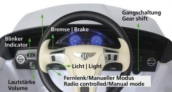 Jamara Kinderfahrzeug Elektroauto Kinder Ride-on Bentley GTC schwarz Bild 3