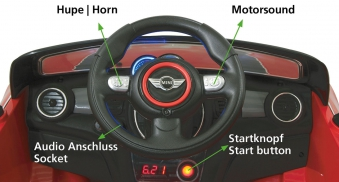 Jamara Kinderfahrzeug Kinderauto Elektro Ride-on Mini weiß Bild 3