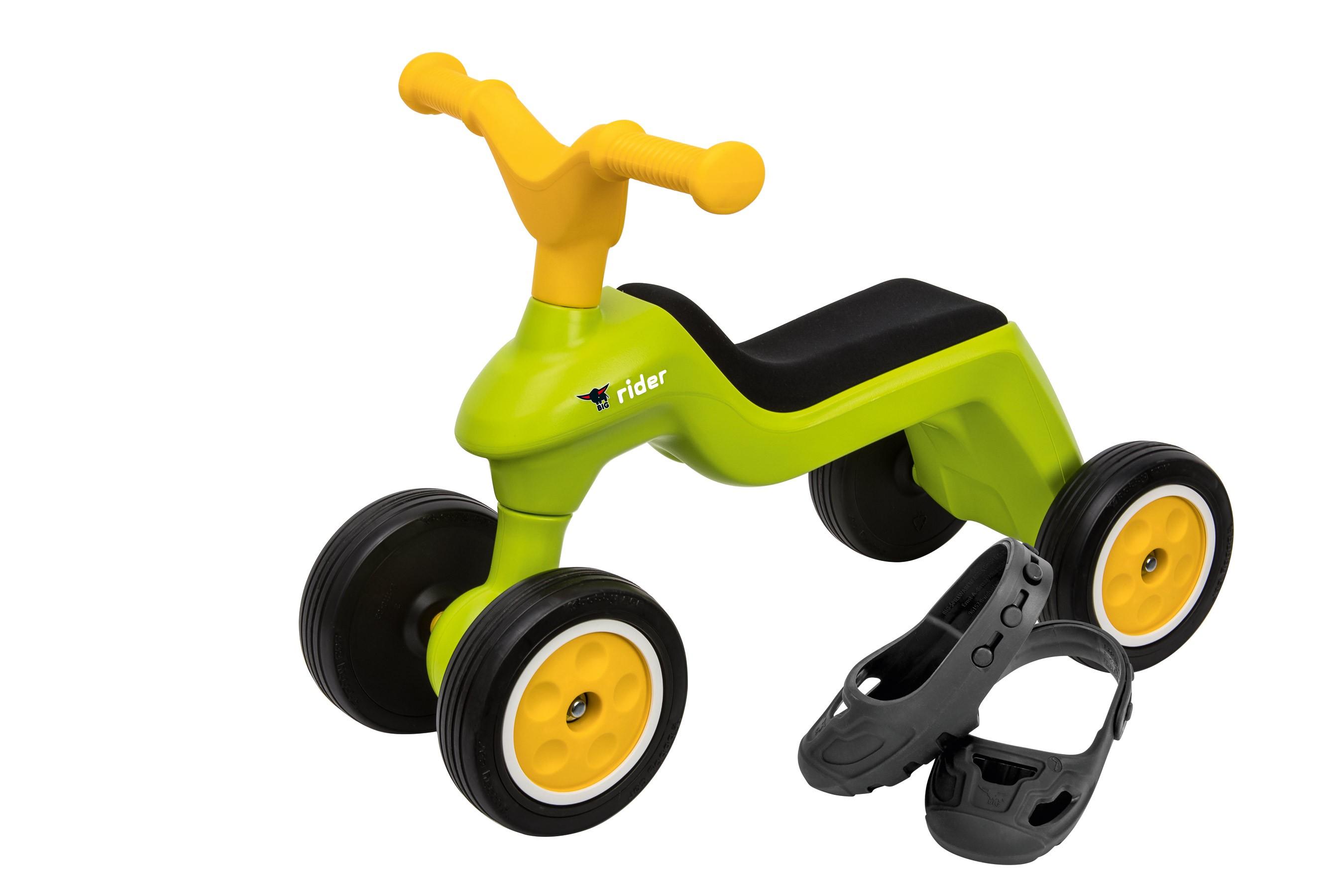 BIG Laufrad Rider + BIG Shoe-Care grün Bild 1