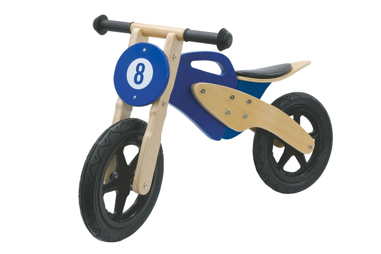 Jamara Laufrad Holz / Balance Bike Wood blau Bild 1