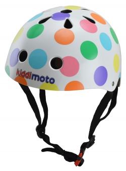 kiddimoto Fahrradhelm / Kinderhelm Größe M Pastel Dotty