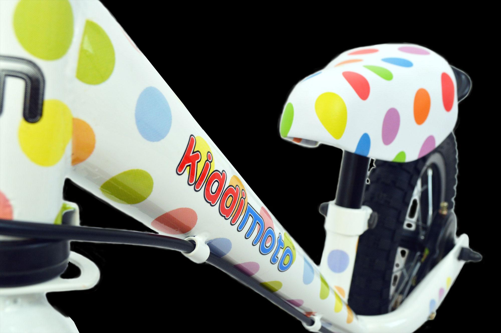 "kiddimoto Laufrad Super Junior Max 12"" Luftbereifung Pastel Dotty Bild 4"