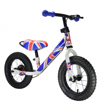 "kiddimoto Laufrad Super Junior Max 12"" Luftbereifung Union Jack"