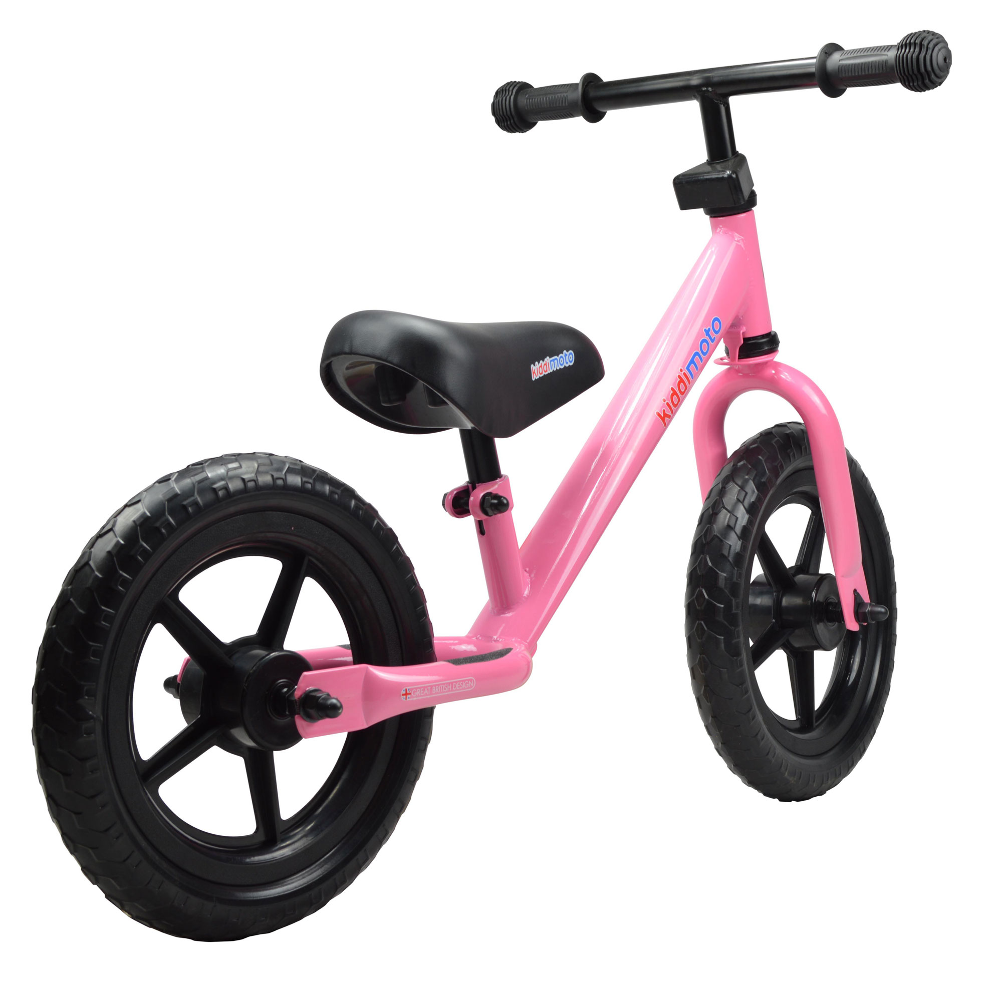 "kiddimoto Laufrad Super Junior SJ1 Metall verstellbar 12"" pink Bild 3"