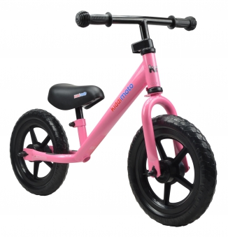 "kiddimoto Laufrad Super Junior SJ1 Metall verstellbar 12"" pink Bild 1"