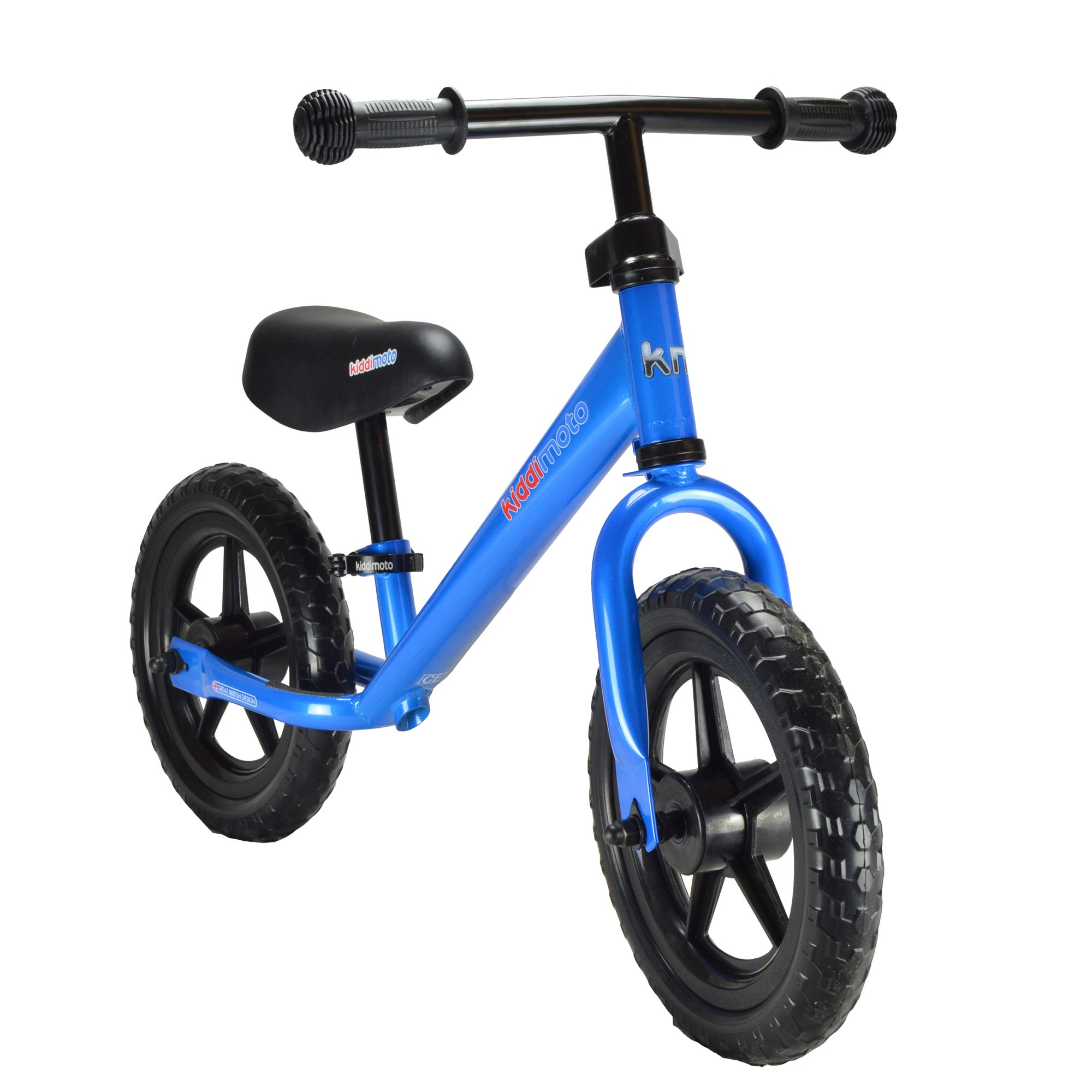 "kiddimoto Laufrad Super Junior SJ4 Metall verstellbar 12"" blau Bild 1"