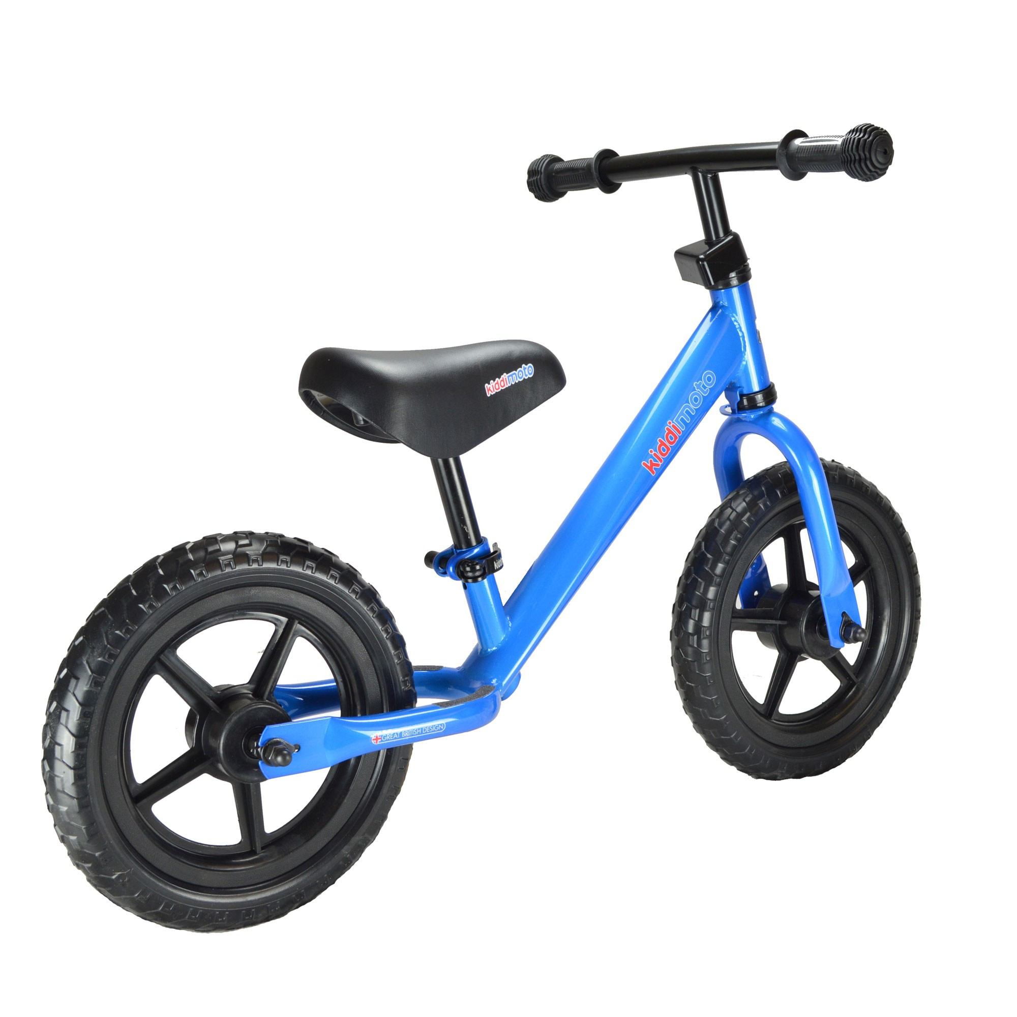"kiddimoto Laufrad Super Junior SJ4 Metall verstellbar 12"" blau Bild 3"