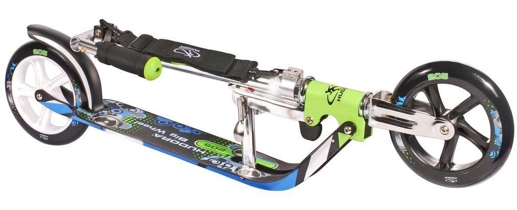 cityroller alu scooter hudora big wheel 205 gr n blau bei. Black Bedroom Furniture Sets. Home Design Ideas