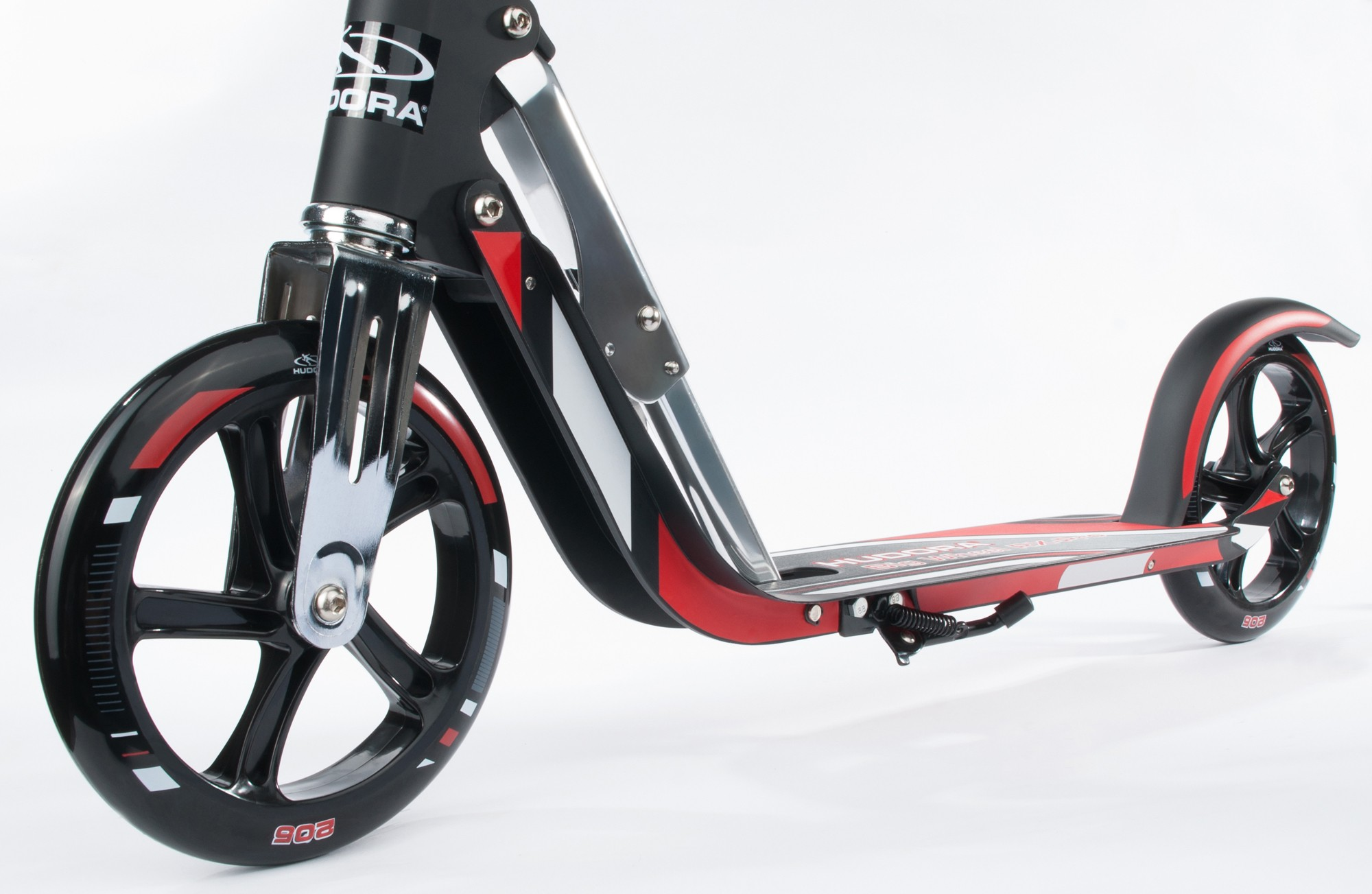 cityroller alu scooter hudora big wheel rx pro 205 rot schwarz bei. Black Bedroom Furniture Sets. Home Design Ideas