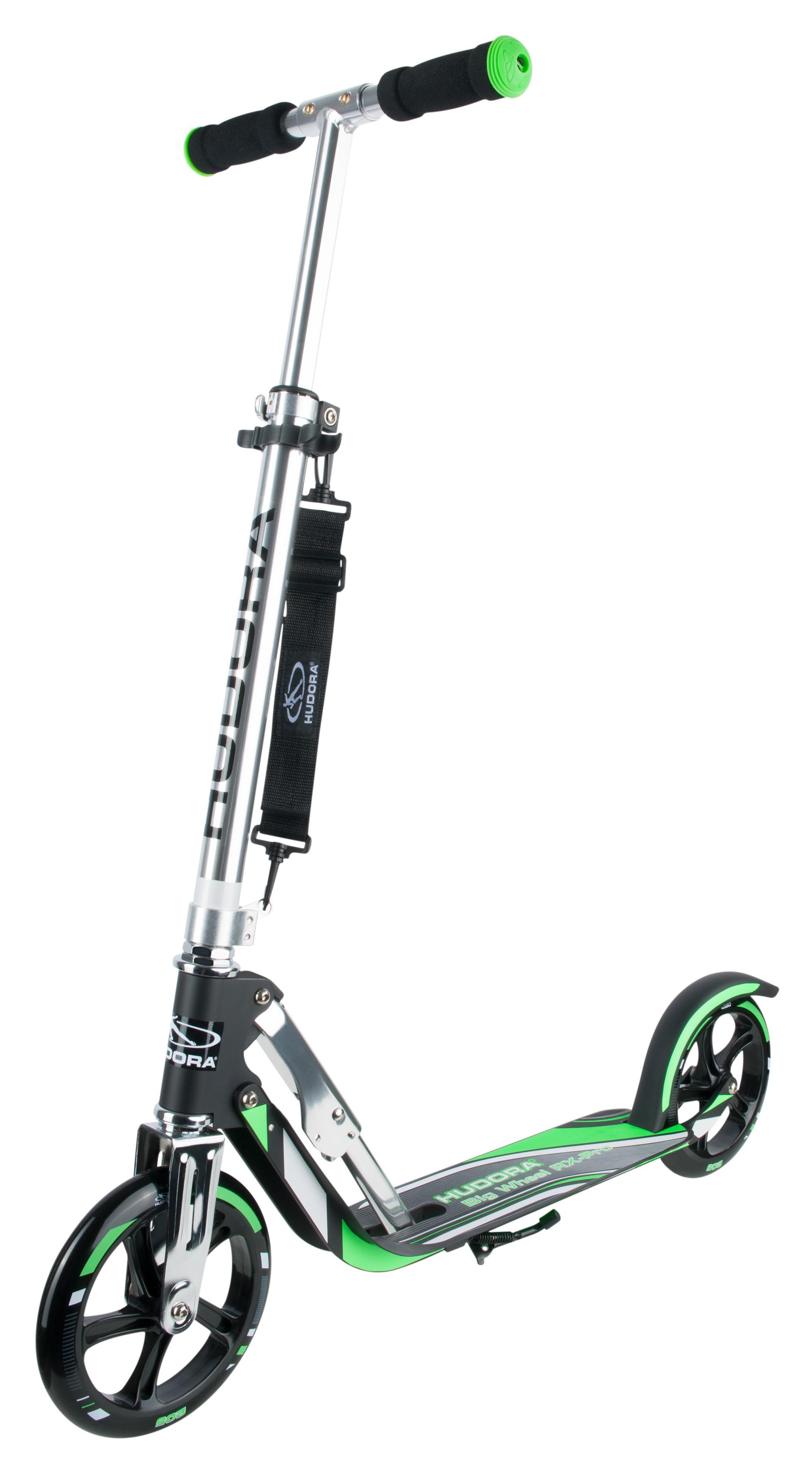cityroller alu scooter hudora big wheel rx pro 205 schwarz gr n bei. Black Bedroom Furniture Sets. Home Design Ideas