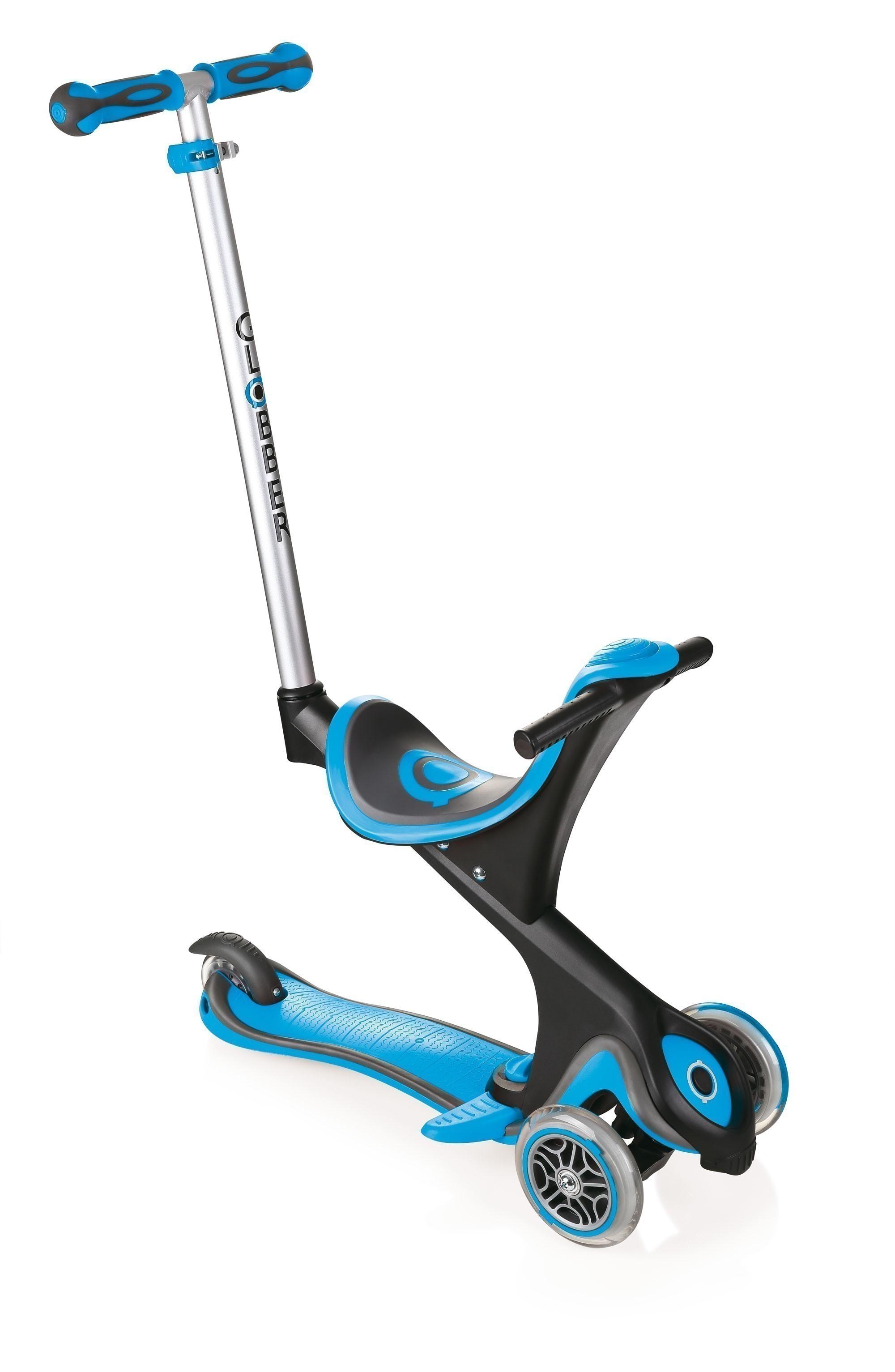 Scooter Kinderroller Dreirad Laufrad Globber Evo Comfort 5in1 himmelbl Bild 1