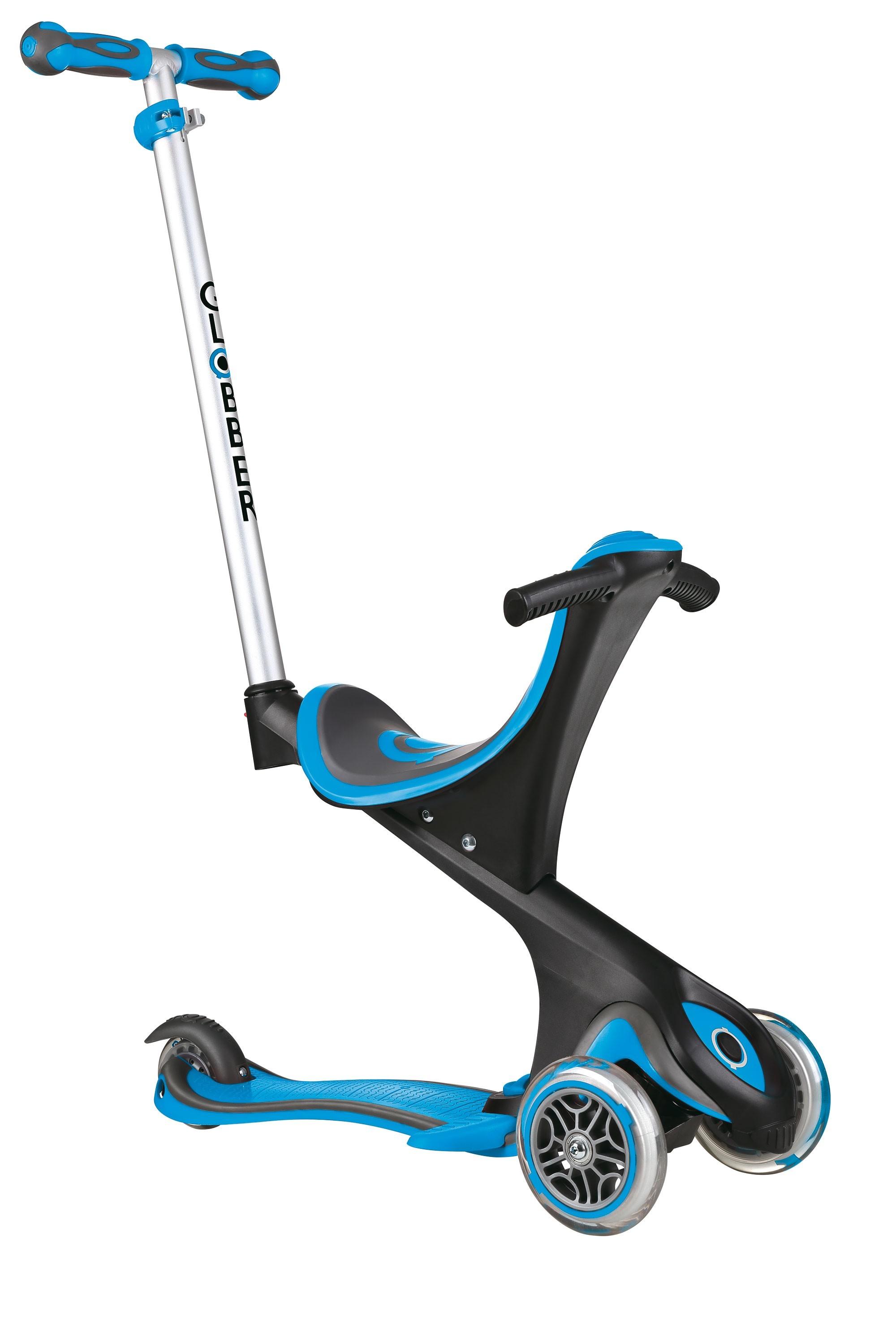 Scooter Kinderroller Dreirad Laufrad Globber Evo Comfort 5in1 himmelbl Bild 5
