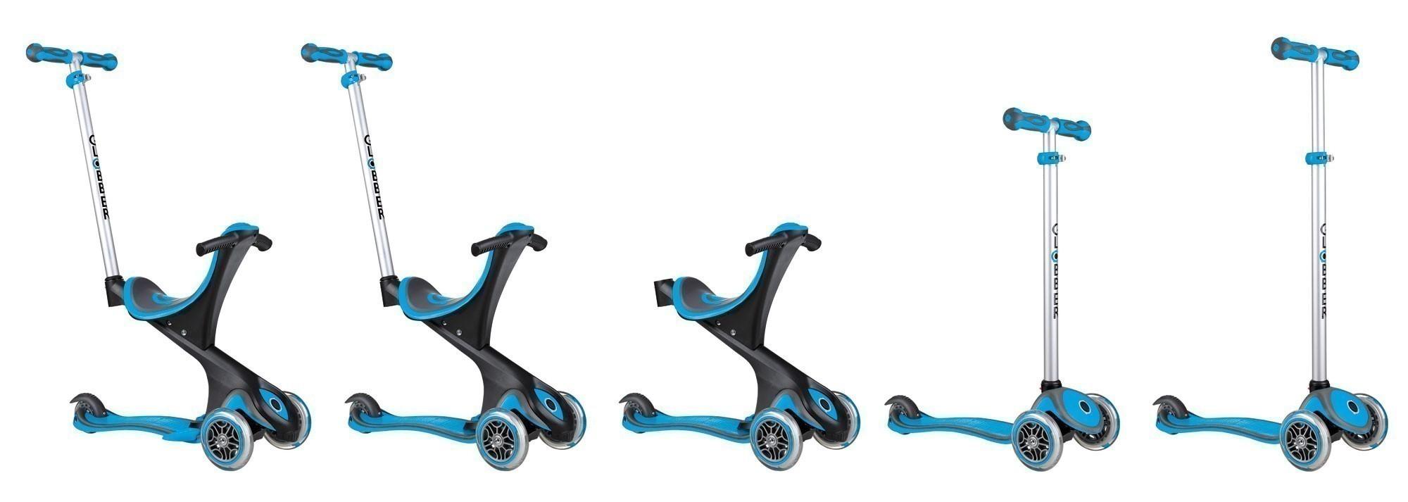Scooter Kinderroller Dreirad Laufrad Globber Evo Comfort 5in1 himmelbl Bild 6