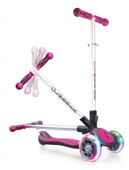 Scooter / Kinderroller Globber MY FREE Fold pink-grau Bild 3