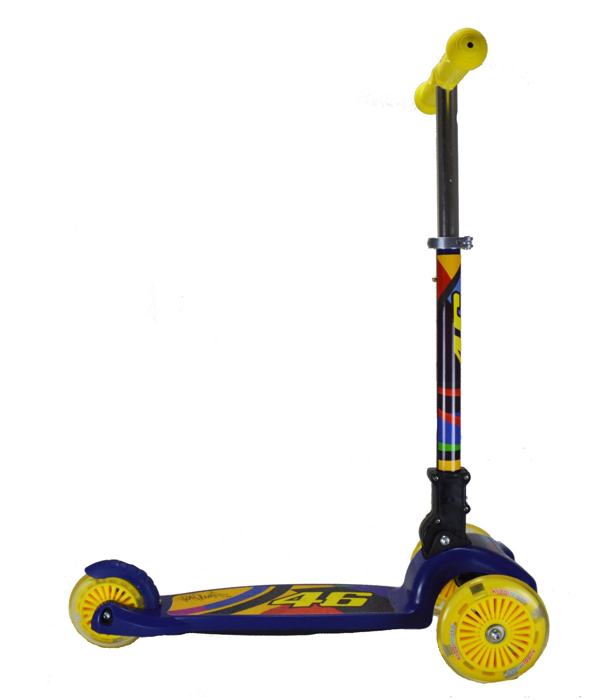 kiddimoto Scooter / Kinderroller U-Zoom Scooter LED Valentino Rossi Bild 2