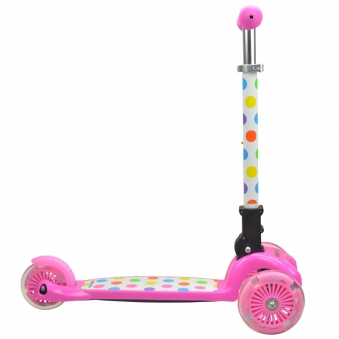 kiddimoto Scooter / Kinderroller U-Zoom Scooter klappbar Pastel Dotty Bild 2
