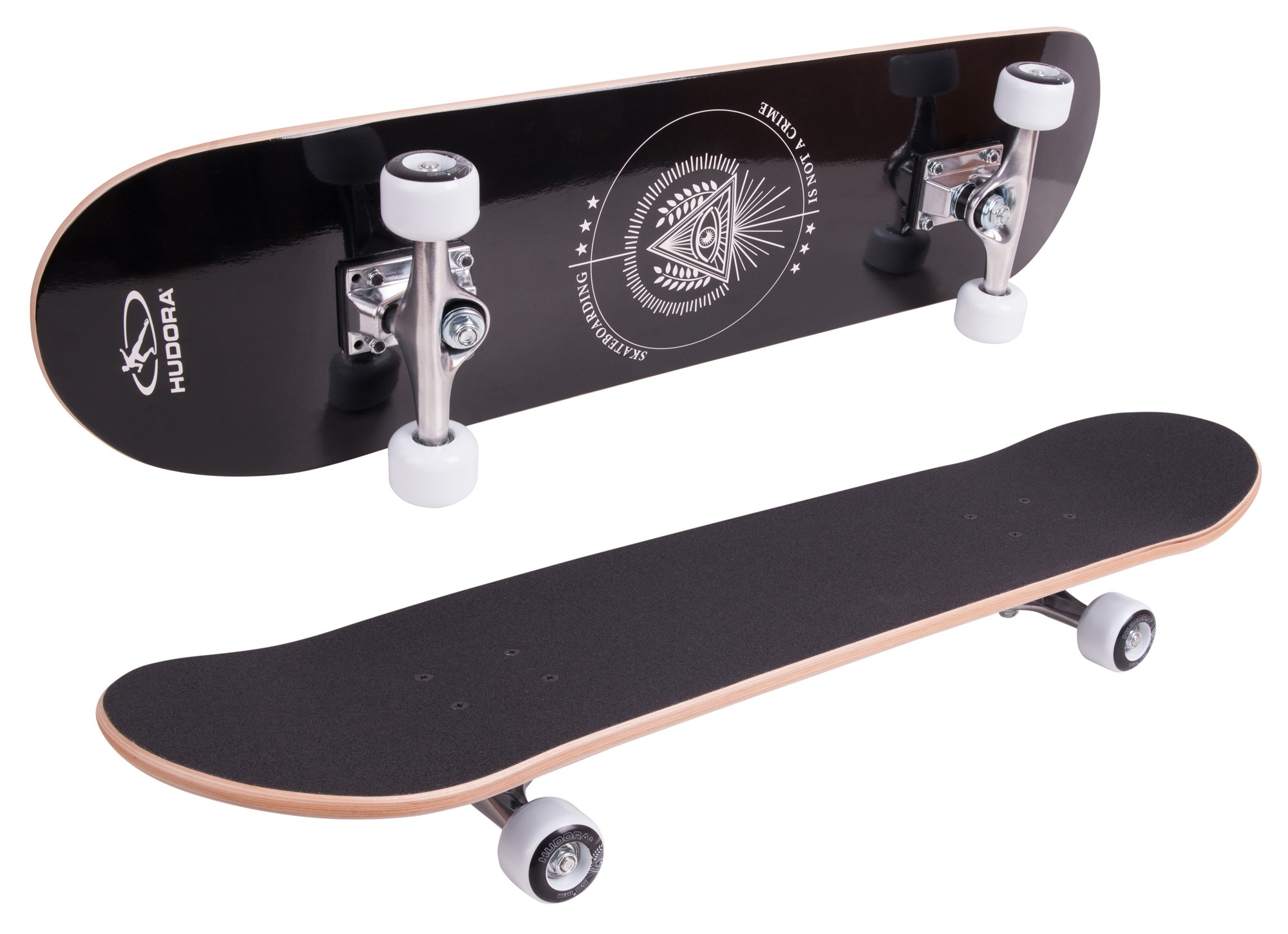 Skateboard Hudora Columbia Heights ABEC 3 mit Rucksack Bild 2