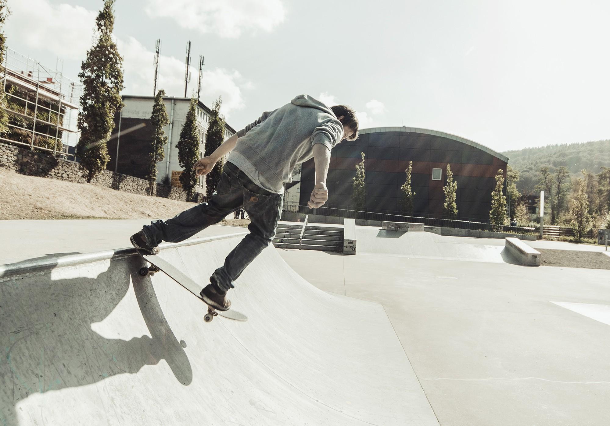 Skateboard Hudora Columbia Heights ABEC 3 mit Rucksack Bild 4