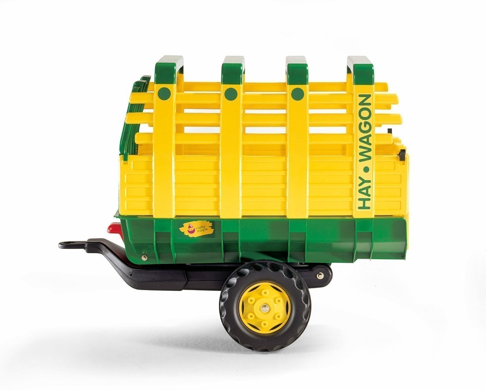 Anhänger für Tretfahrzeug rolly Hay Wagon grün / gelb - Rolly Toys Bild 1
