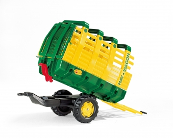 Anhänger für Tretfahrzeug rolly Hay Wagon grün / gelb - Rolly Toys Bild 2