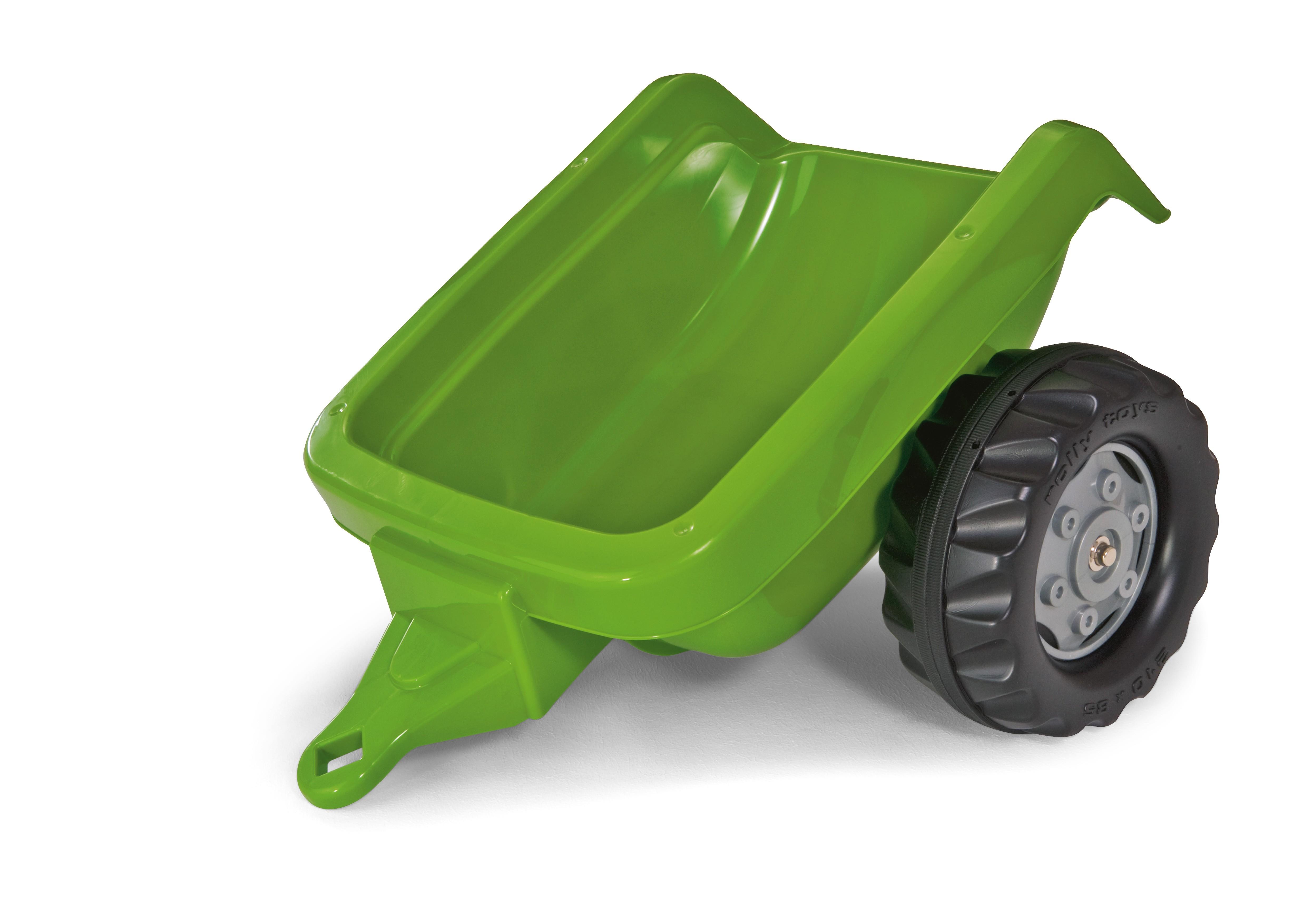 Anhänger für Tretfahrzeug rolly Kid Trailer grün - Rolly Toys Bild 1