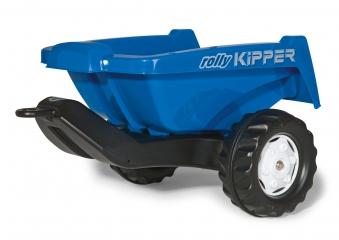 Anhänger für Tretfahrzeug rolly Kipper II blau - Rolly Toys Bild 1