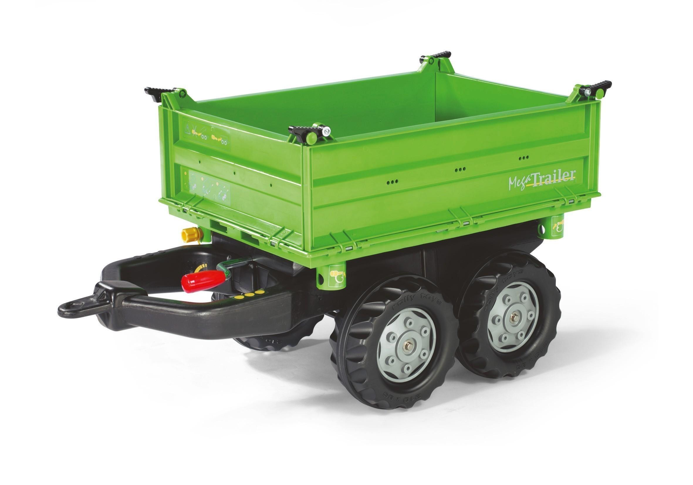 Anhänger für Tretfahrzeug rolly Mega Trailer grün - Rolly Toys Bild 1