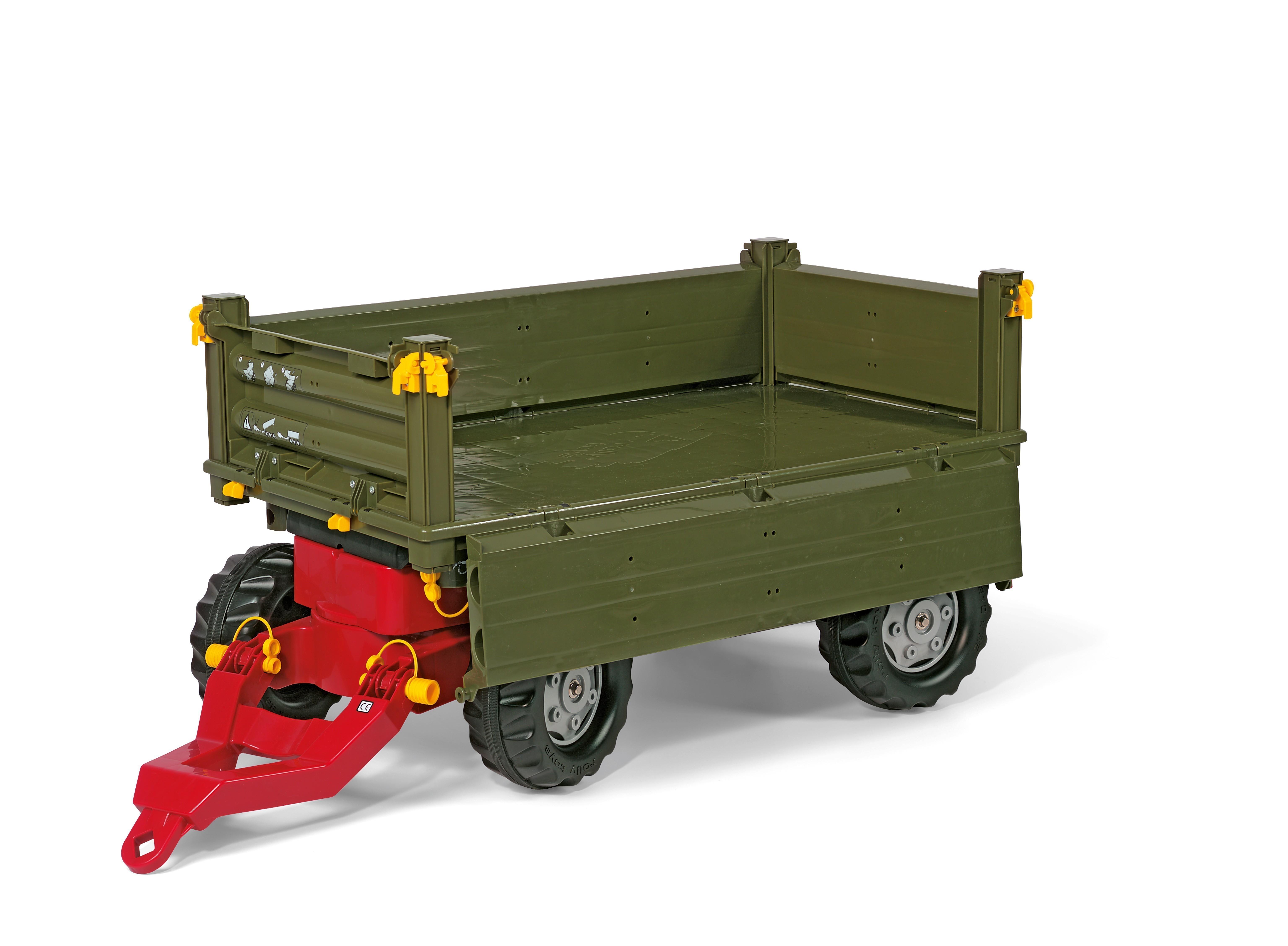 Anhänger für Tretfahrzeug rolly Multi Trailer grün - Rolly Toys Bild 4