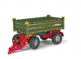 Anhänger für Tretfahrzeug rolly Multi Trailer grün - Rolly Toys Bild 1